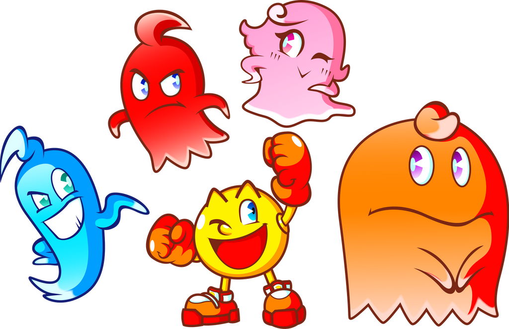 Pac man and the ghost monsters by jamesmantheregenold on deviantart
