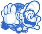 Sketch Comm - P Balloon Luigi