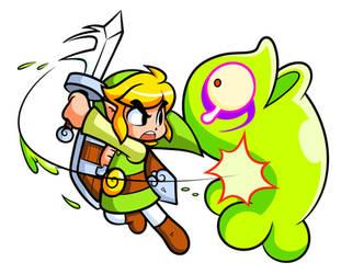 Zelda: Toon Link and Green Chuchu
