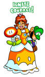 Commission - Daisy and Plush Luigi