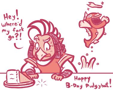 Happy Birthday Pudgybat ~ by JamesmanTheRegenold