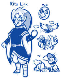 Link's New Mask Challenge - Rito Link by JamesmanTheRegenold