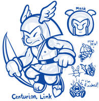 Link's New Mask Challenge - Centurion Link by JamesmanTheRegenold