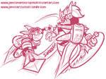 Sparkster vs Axel Gear Sketch