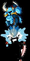 Indie Pogo Art: Shovel Knight vs CommanderVideo