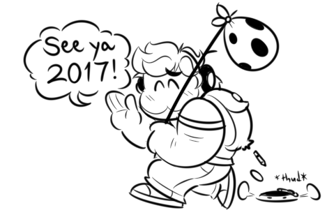 He leaves for the New Year by JamesmanTheRegenold
