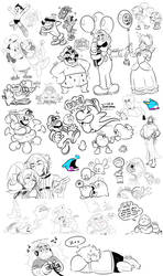 Sketches and Doodle as of May 2019 by JamesmanTheRegenold