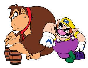 Donkey Kong and Wario