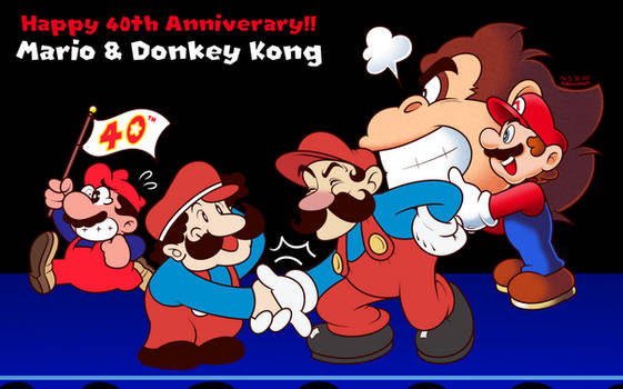 Mario, Mario, Mario, Mario and Donkey Kong's 40th