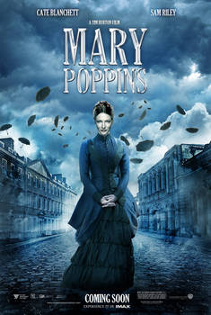 TIM BURTONS MARY POPPINS POSTER ART