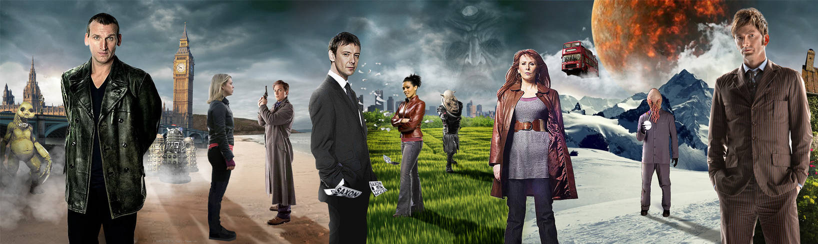 DOCTOR WHO - 10TH ANNIVERSARY BANNER 9th - 10th