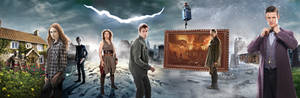 DOCTOR WHO 10TH ANNIVERSARY BANNER - 11th Doctor