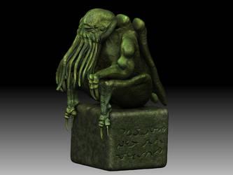 estatua de Cthulhu by roberto066