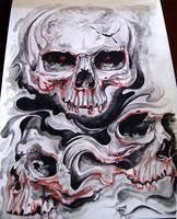 skull tattoo cover by BoogyWoogy