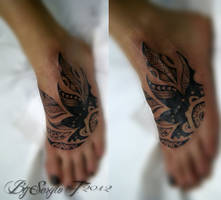 Tribal cover up tattoo by BoogyWoogy