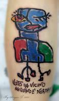 community label tattoo. by BoogyWoogy