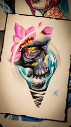 Skull tattoo idea. by BoogyWoogy