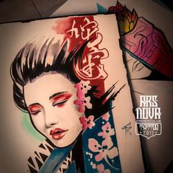 Geisha tattoo idea. by BoogyWoogy