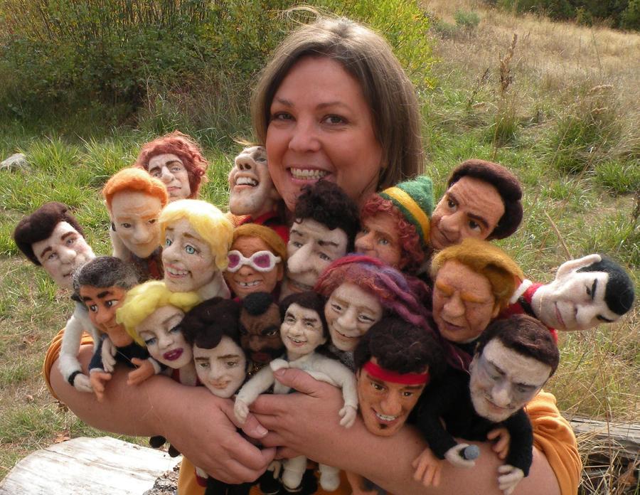 Group Hug  Needle Felted Dolls by FeltAlive