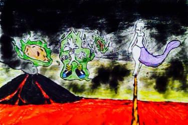 Mewtwo vs Silver by firebird97