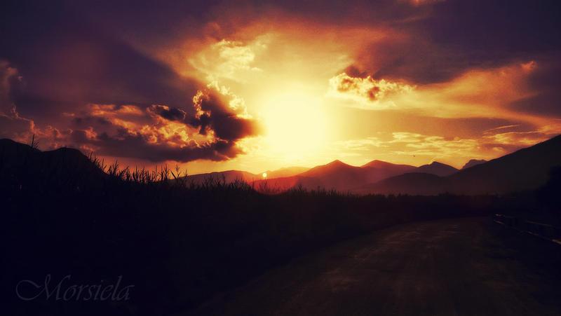 Gacel  Sunset, Slovakia by morsiela