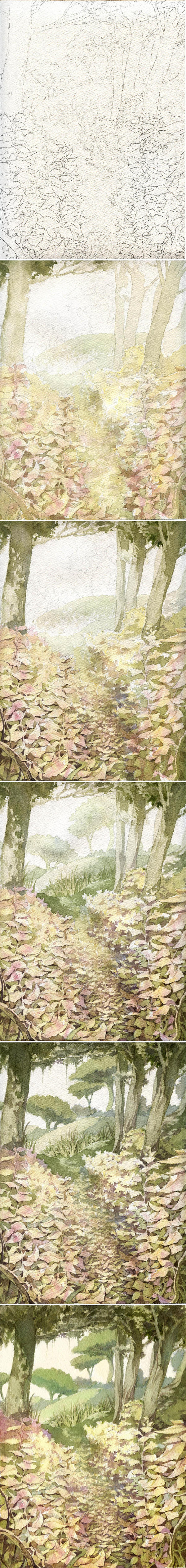 Tutorial de un watercolor landscape by ChencoIlufi