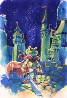 Frog's devotion by Moonshen