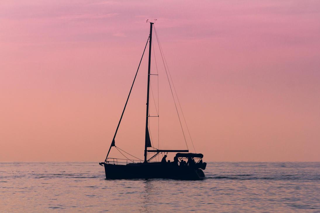 Sailing at Dusk #2 by ViridianRoses
