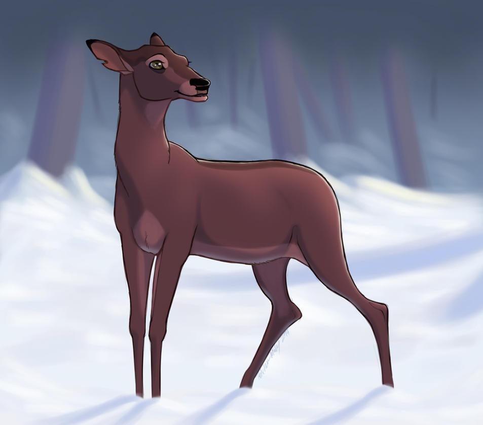 Can bambi hentai deer in heat can't