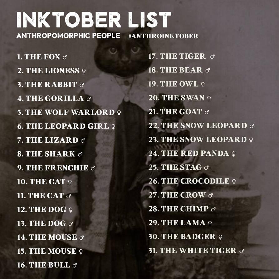 List---anthropomorphic
