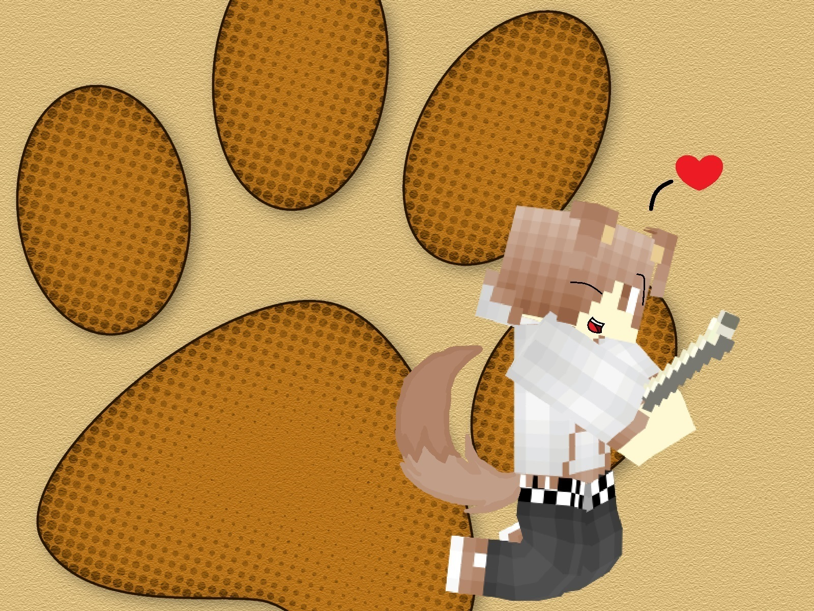 Minecraft Wallpaper Cute Puppy Dog Boy By K A W A I M I On