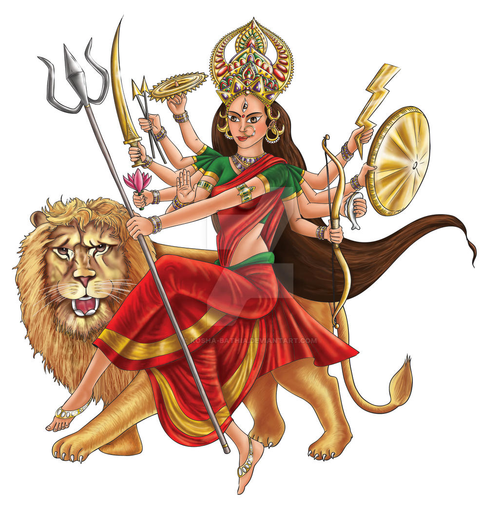 Hindu Goddess Durga by kosha-bathia