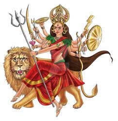 Hindu Goddess Durga by kosha-bathia
