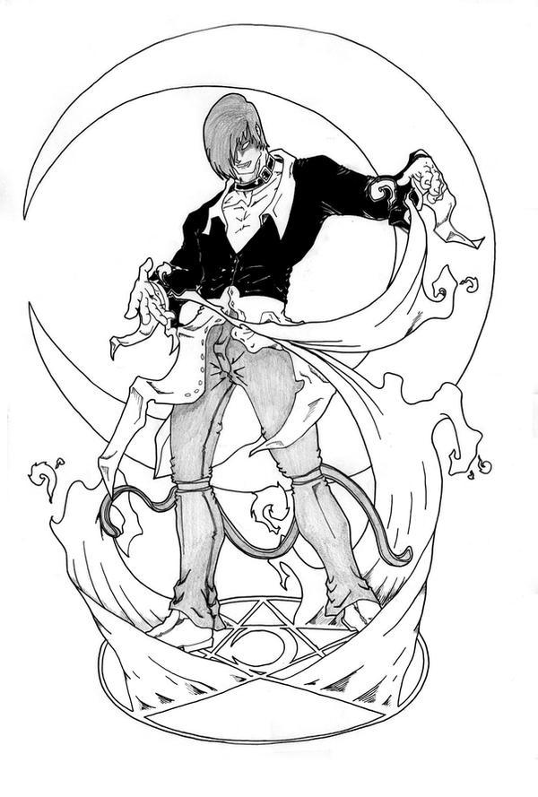Iori Yagami on Sketch Art Games