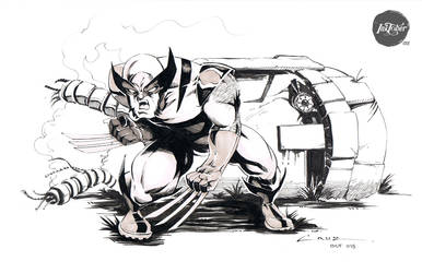 Inktober 015 Wolverine by Cruuzetta