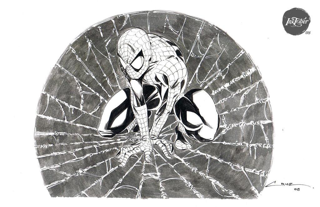 Inktober 015 Spiderman by Cruuzetta