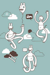 Moops in the clouds by cova