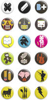 Second series of pin badges by cova