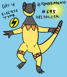 Pokecember 2017 Day 4: Electric Type - Heliolisk by DreamerTony