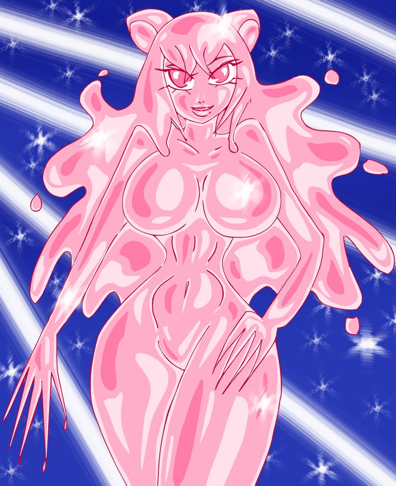 Slime girl Rose Kitty by klareszj