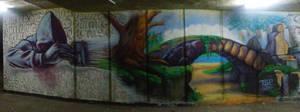 Underpass graffiti in Sofia, Bulgaria by anonnymous-fan