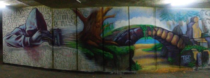 Underpass graffiti in Sofia, Bulgaria