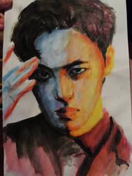 Hongbin painting!