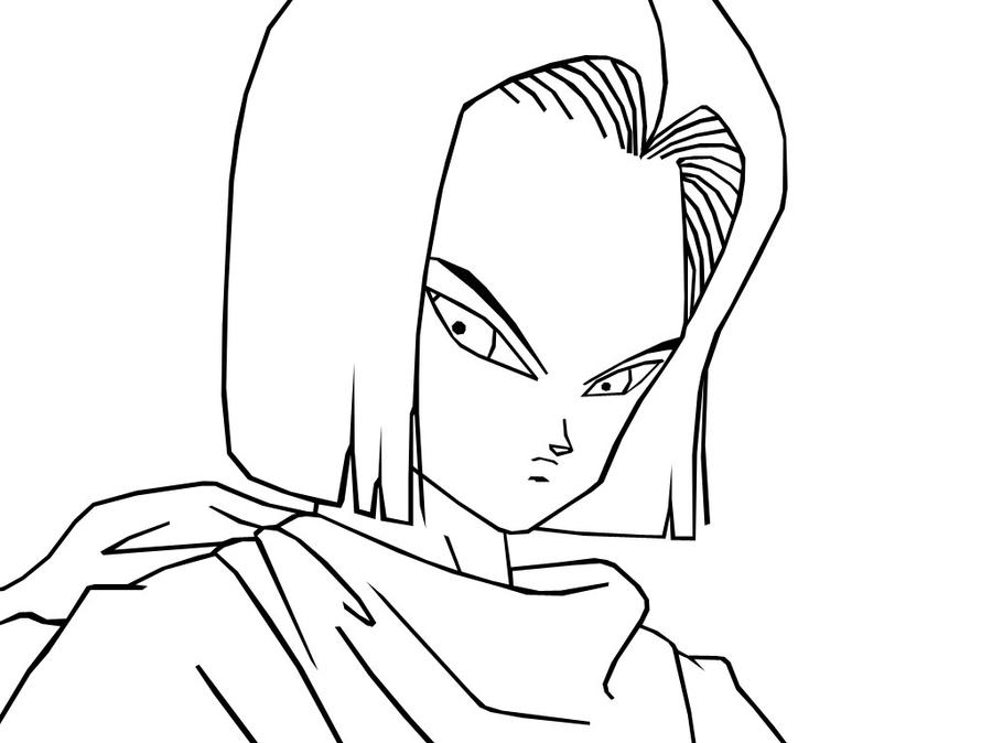 Dbz Android 17 Coloring Pages