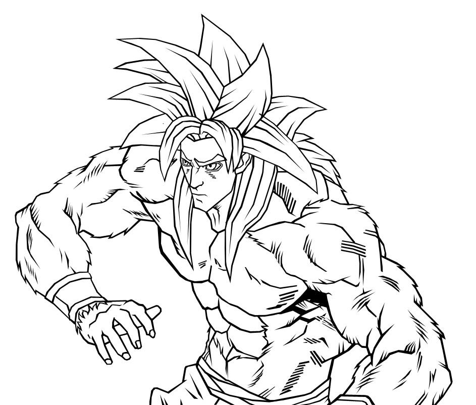 goku super saiyan 4 by neoluce