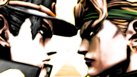 Jotaro Vs Dio by Neoluce