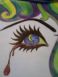 crying eye by sheppaja