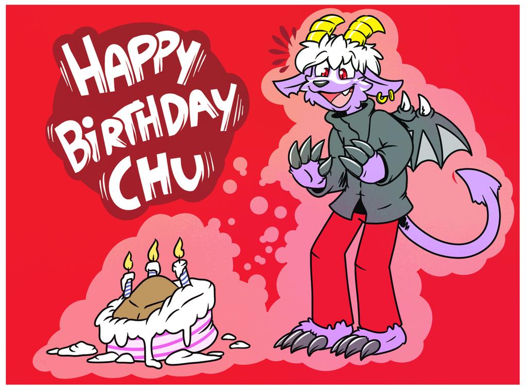 Happy Birthday Chu by Tomthebaker