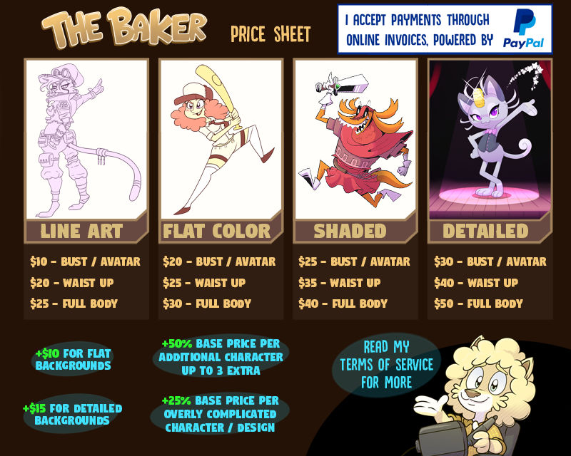 Commissions and prices, status: (OPEN)