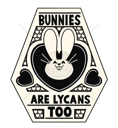 Sticker batch #2 -Bunnies are Lycans too by Tomthebaker